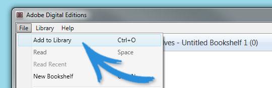 Como abrir um arquivo epub usando o Adobe Digital Editions