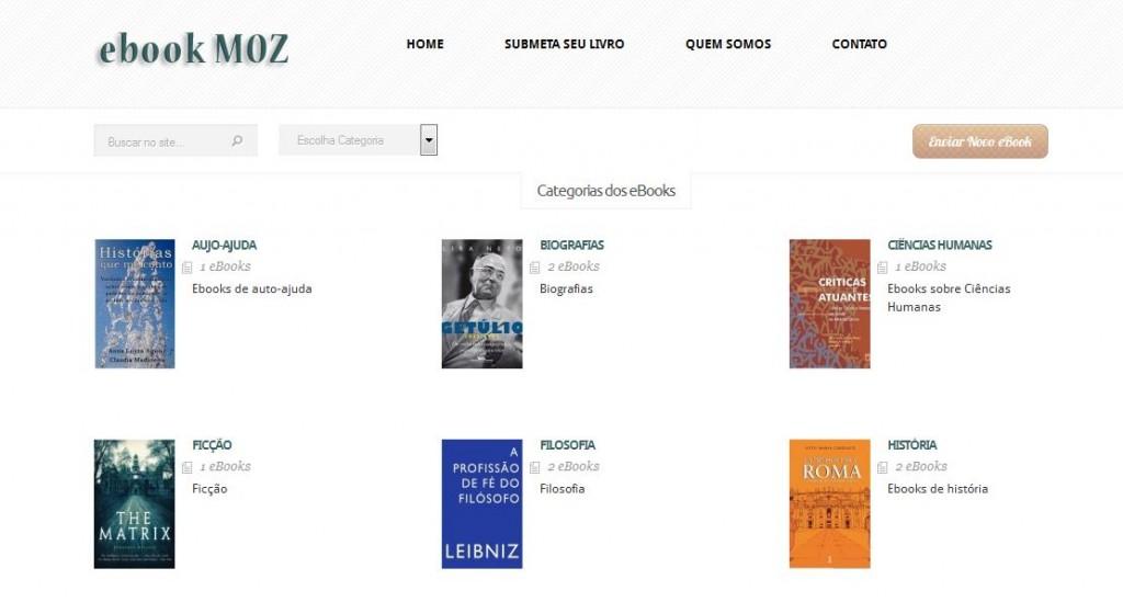Diretório de ebooks ebookMOZ
