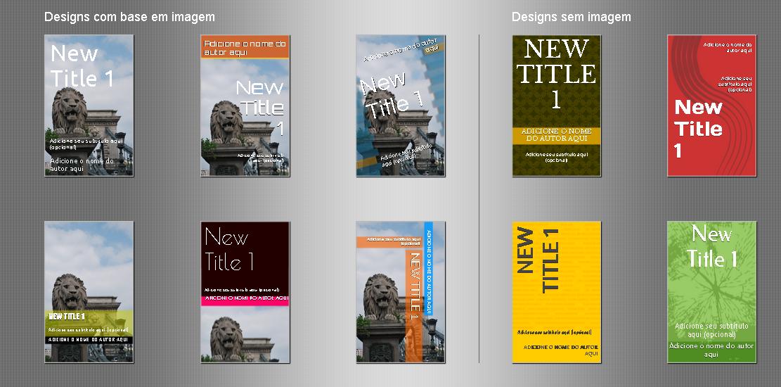 Layout de capas para ebooks