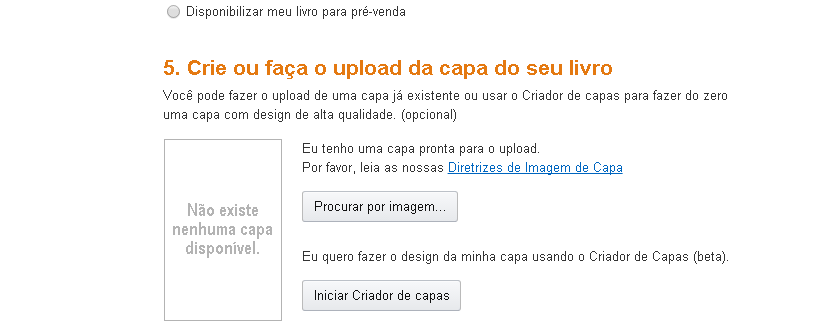 Criador de capas Amazon