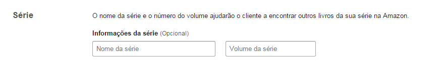Série de ebooks na Amazon