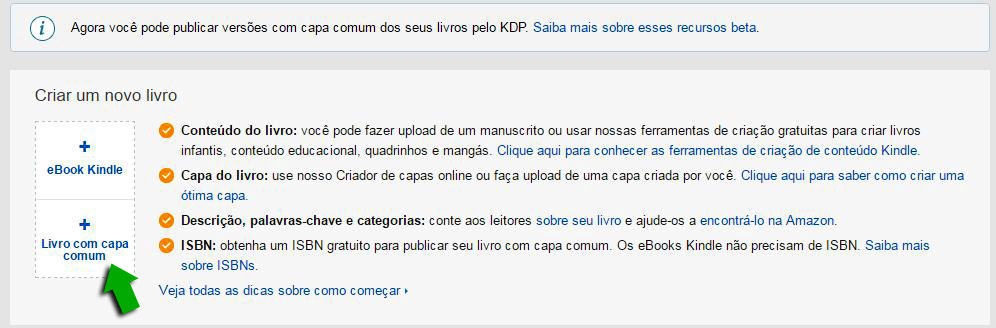 KDP Amazon capa comum