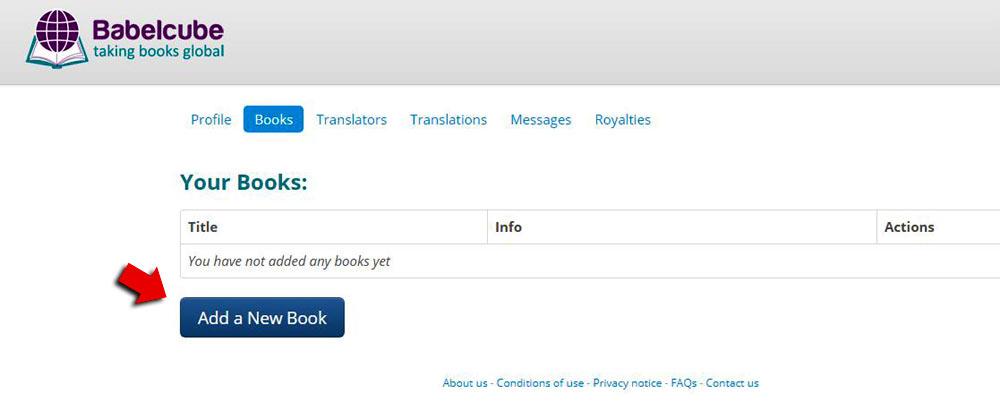 Adicionar livro Babelcube traduzir