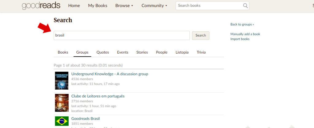 Autores brasileiros no Goodreads